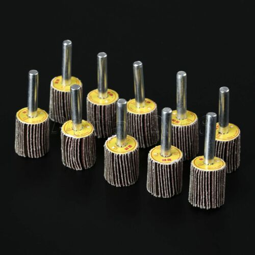 Grit Sanding Flap Disc Wood Working Wheels Brush Sand Rotary 10 Pcs Pack Drill