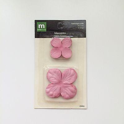 Making Memories Blossoms Paper Flowers - Hydrangea Pink