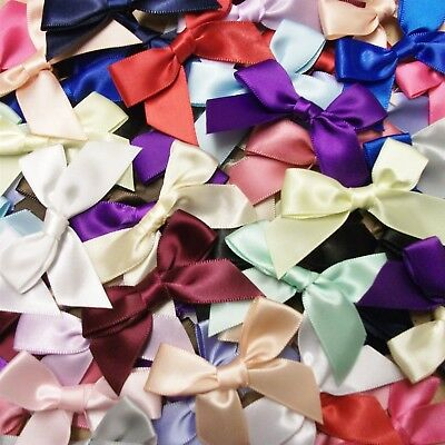 Satin Ribbon (15mm Satin Ribbon Bows 10pk 30pk 50pk or 100pk Choose From 23 Colours Free P&P)