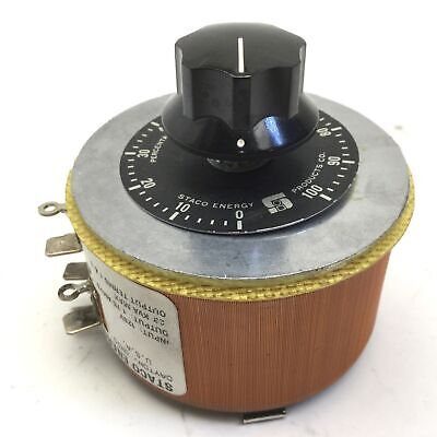 Staco Energy 171 Variable Transformer Voltage 120vac Out 0-1200-132v 1.75a