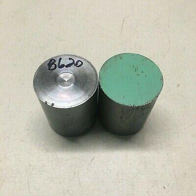 2 14 Inch Diameter 8620 Steel Bar End Scrap. 2 Pieces.