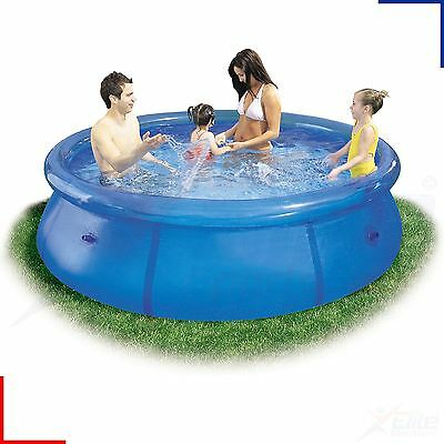 8ft Easy Set Family Childrens Swimming Paddling Garden Pool Heavy Duty