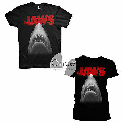 UNISEX or LADIES Official JAWS Classic Movie Poster T-Shirt