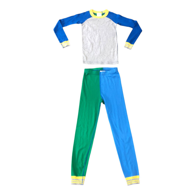Hanna Andersson Mix It Up Color Block Organic Long Pajamas, Size 130 (8)