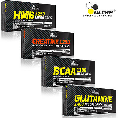 HMB + Creatine Monohydrate + BCAA + L-Glutamine 120/240 Caps Anabolic