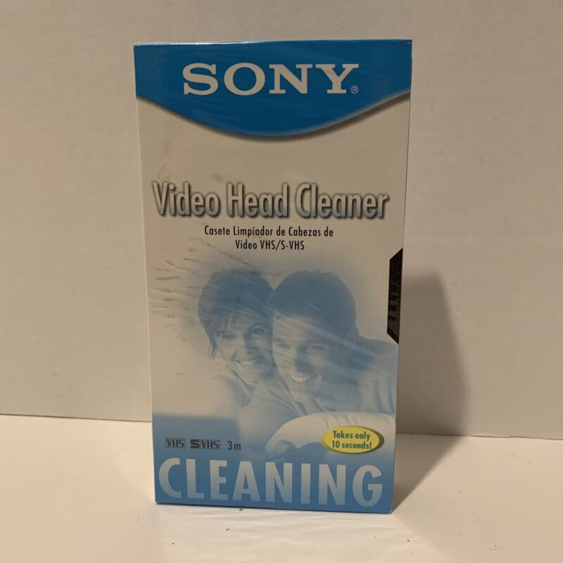 SONY Video Head Cleaner - VHS / S-VHS NEW Factory SEALED Ships FREE!!