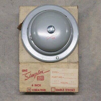 Simplex Str 4017 4 Grey Vibrating Bell Part 624-019 277v Ac Nos W Mount Vintage