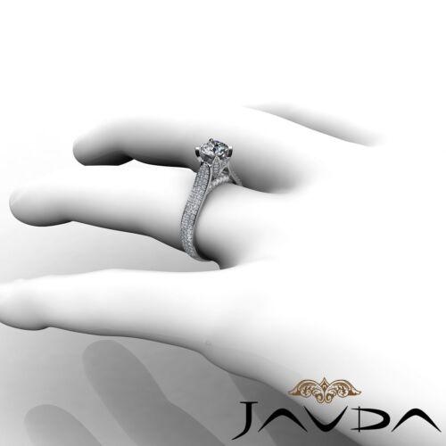 2.45ct Brilliant Cut Round Diamond Engagement Pave Set Ring GIA F VVS2 Platinum 4