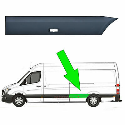 Vw Crafter LWB Plastic Protective Side Moulding Strip Trim N/S 2006 -2018