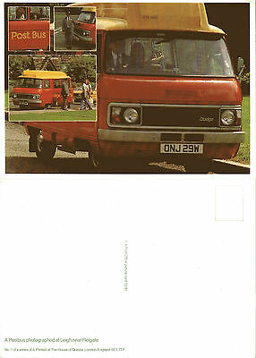 1981 CARRYING THE ROYAL MAIL POSTBUS NEAR LEIGH REIGATE MINT POSTCARD