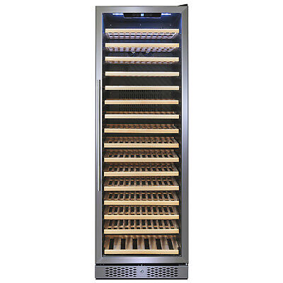 171 Bottle Single Zone Compressor Electric Freestanding Wine Cooler Refrigerator