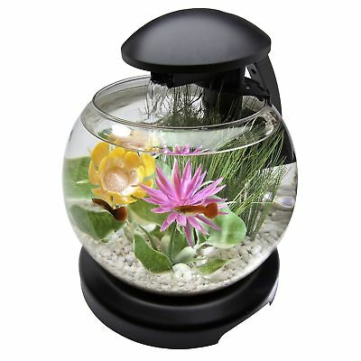 Tetra 1.8 Gallon Waterfall Globe Aquarium Kit Black