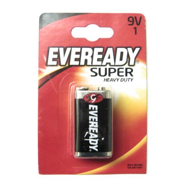 9V Battery Eveready Super Heavy Duty Zinc 9V Batteries