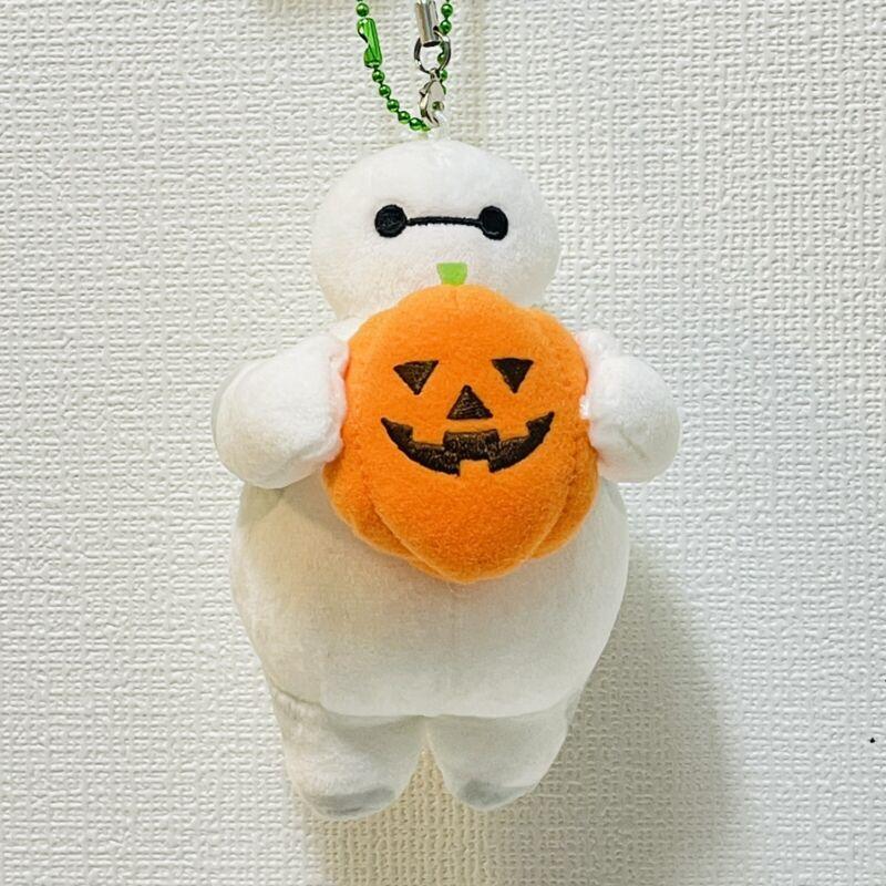 Disney Tokyo Baymax Pumpkin Plush Small Chain Stuffed Doll Tokyo Disneyland