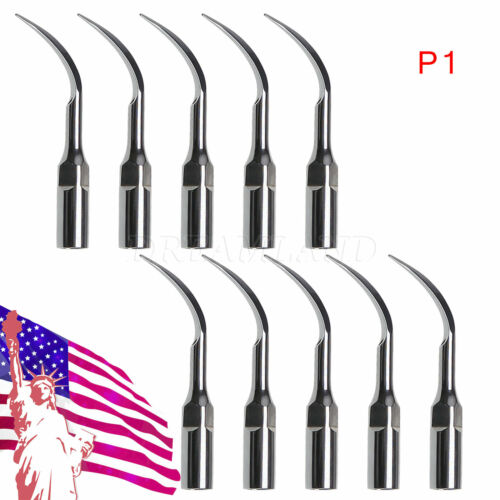 10*Dental Ultrasonic Piezo Scaler Perio Tips P1 Fit EMS/WOODPECKER Handpiece XBY