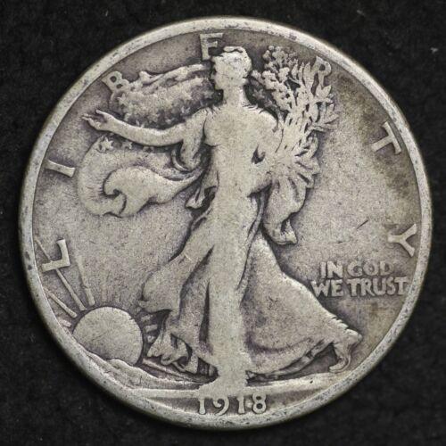 ** 1918-S Walking Liberty Silver Half Dollar NICE! FREE SHIPPING!