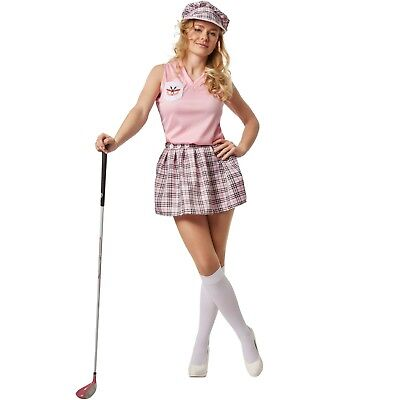 Women's Golfer Costume Golf Outfit Golfing Player Sport Pub Ladies Fancy Dress