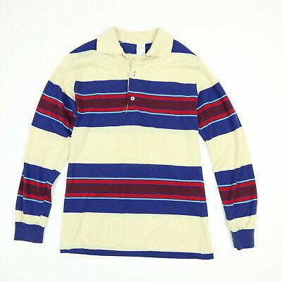 Vtg 80s Jantzen Polo Shirt Mens SMALL Thin Knit Surfer Striped Grunge Skate USA 80s Knit Shirt