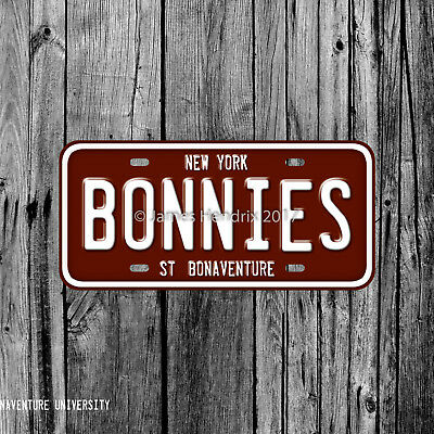 St Bonaventure University Bonnies St  Bonaventure New York License Plate