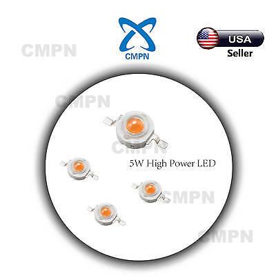 5pcs 5watt High Power Smd Led Chip Full Spectrum Bulb 380-840nm Plant Grow Light