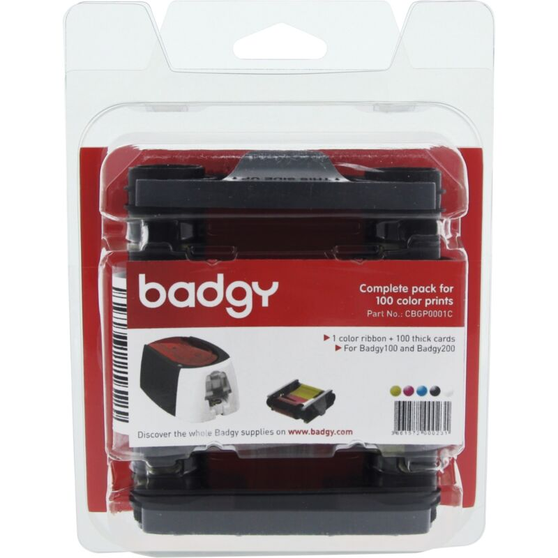 Evolis-new-cbgp0001c _ Badgy 200 Consumable Pack For 100 Prints Includ