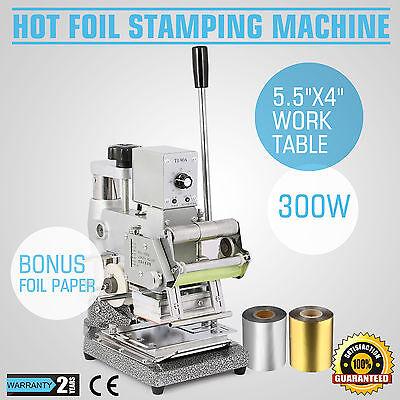 Hot Foil+2 Foil Paper Printing Stamping Machine Code Printer Embossing Bank Card