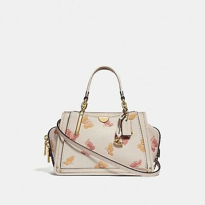 BNWT Coach Dreamer 21 Butterfly Print Leather -