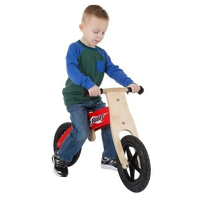 - Wooden Balance Bike No pedals Rubber Wheels Bike Training Strengthening 2-5 Yrs