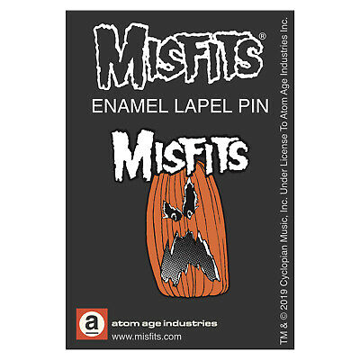 Authentic MISFITS Halloween Pumpkin Enamel Pin NEW - Pumpkin Pins Halloween