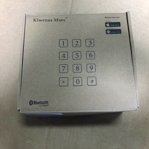Klwenas Maec Smart Deadbolt Lock, LED Keypad Door Lock Bluetooth !~!