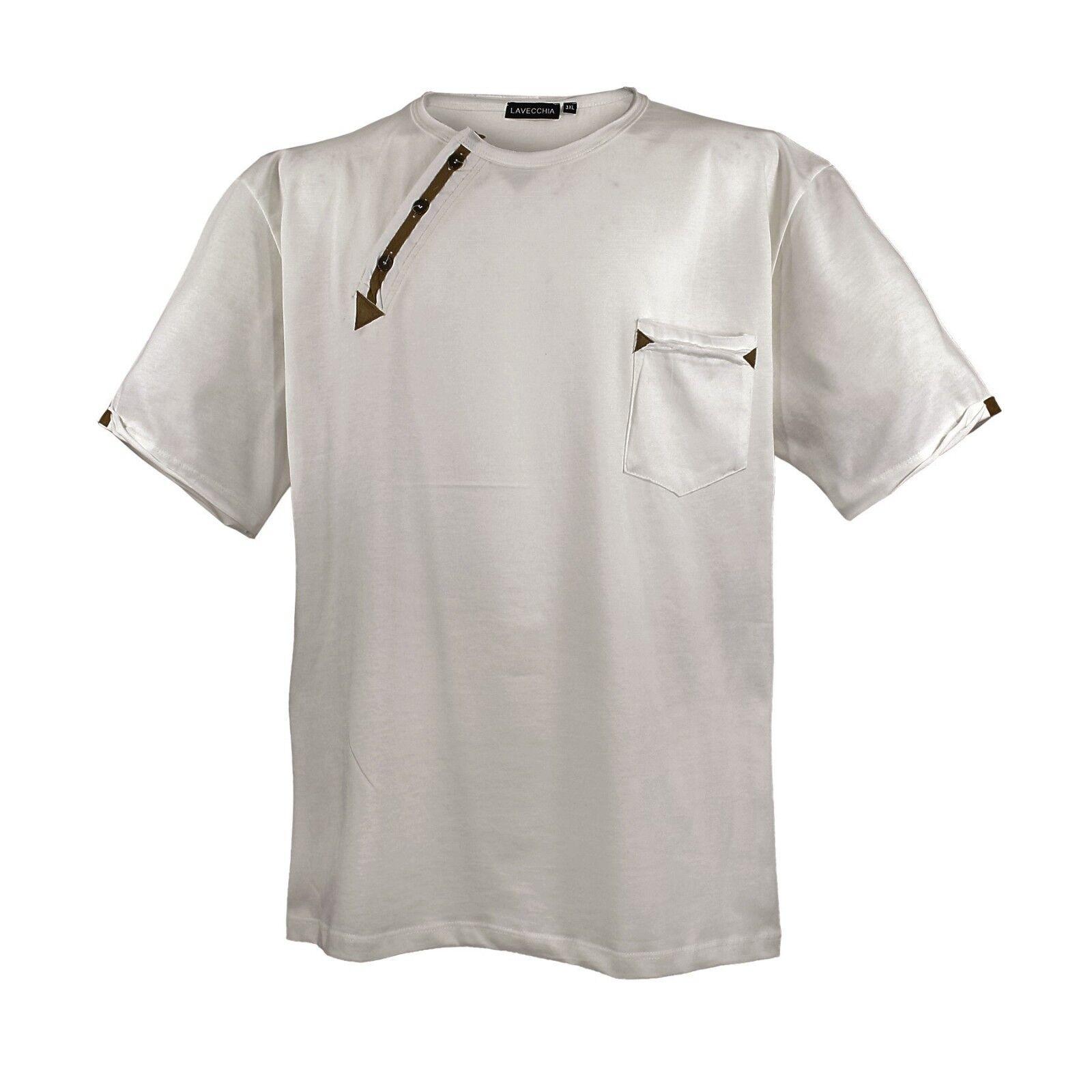 LAVECCHIA LV-116 Übergrößen Herren TOP T-Shirt in 3 Trendfarben 3XL-8XL