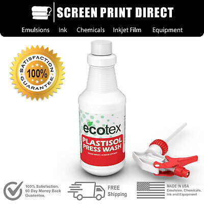 Ecotex Plastisol Press Wash - On Press Screen Opener Ink Degradent - 32oz