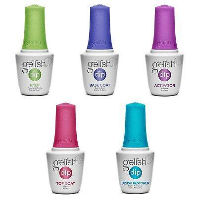 Gelish Soak Off Basix Acrylic Powder  Dip Manicure Set Starter Kit 5 pcs On Sale
