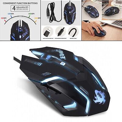 Geräuschlose kabelgebundene Computermaus USB-Gaming-Maus für