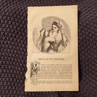 The Lay of the Nibelungen - c.1854 Book Page