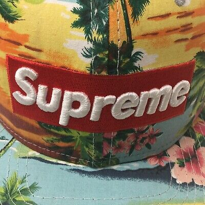 Supreme Logo Hat. Excellent Condition. Floral Design. Replica.