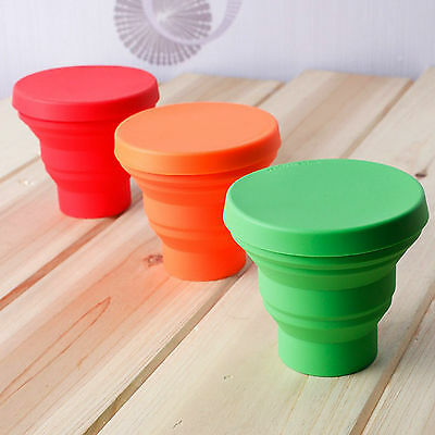 Silicone Folding Portable Travel Mug cup Camping home coffee tea cups