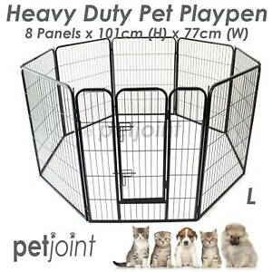 1 Metre High HeavyDuty Pet PlayPen Dog Fencing Cage Enclosure Pen