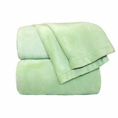 Cozy Fleece Comfort Collection Velvet Plush Sheet Sett California King Sage 1