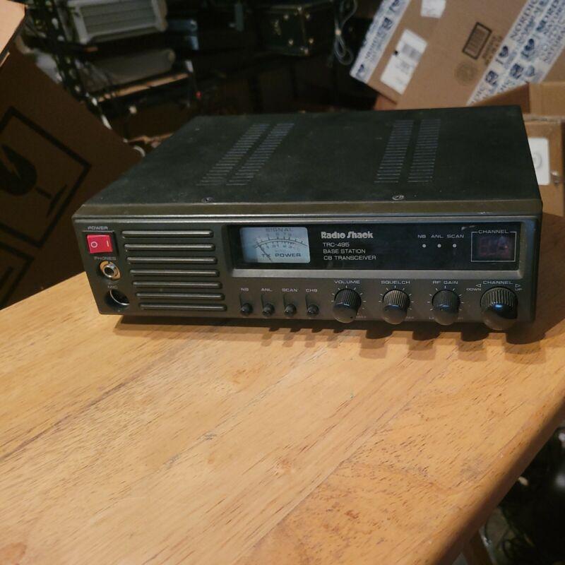 Radio Shack Realistic TRC-495 CB Radio 40 Channel Base Station