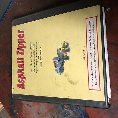Zipper 480 Asphalt Pavers Owners Manual Grinder