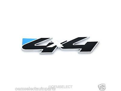 "NEW OEM Ford 4x4 4WD Decal Emblem Nameplate Badge - Black / Chrome - Explorer 5"""