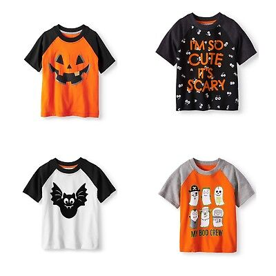 TB Graphic Tee Toddler Boys Halloween T-Shirts Bat Pumpkin Ghosts New](Toddler Boy Halloween T Shirts)