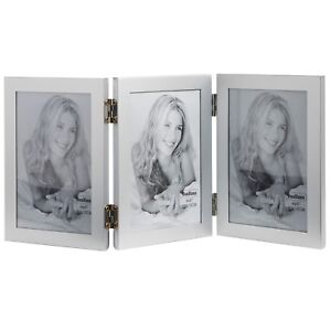 VonHaus Photo Frame - Aluminium - Triple Portrait Multi Picture Hinged