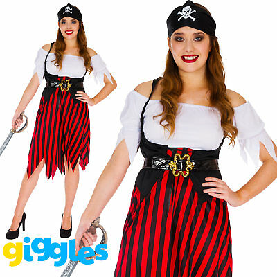 Adult Pirate Wench Womens Costume Buccaneer World Book Day Week Fancy Dress New - Costume Book