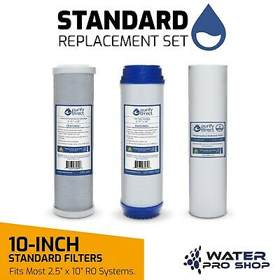 Replacement Pre-Reverse Osmosis Universal Water Filter Kit -Sediment/GAC/Carbon