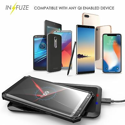 QI Wireless Charging Pad Mat Fast Charge for Galaxy Note 10,