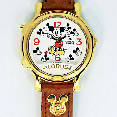 Mickey Mouse Disney Plays 2 Musical Tunes, Lorus Seiko Vintage Unworn Watch $149