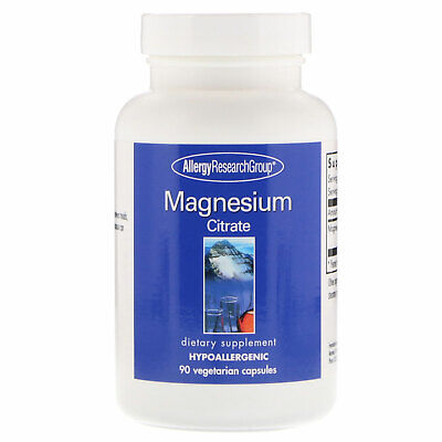 Allergy Research Group Magnesium Citrate 90 Veggie Caps Hypoallergenic, Allergy Research Group Magnesium
