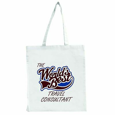 The Worlds Best Travel Consultant - Large Tote Shopping (The Best Travel Purse)